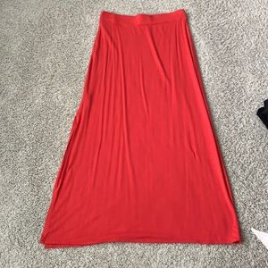 Coral Maxi with Slit